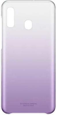 Чехол (клип-кейс) Samsung для Samsung Galaxy A20 Gradation Cover фиолетовый (EF-AA205CVEGRU) цена и фото