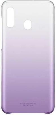 Чехол (клип-кейс) Samsung для Samsung Galaxy A20 Gradation Cover фиолетовый (EF-AA205CVEGRU) клип кейс samsung gradation cover для samsung galaxy j4 2018 золотистый