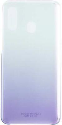 Чехол (клип-кейс) Samsung для Samsung Galaxy A40 Gradation Cover фиолетовый (EF-AA405CVEGRU) цена и фото