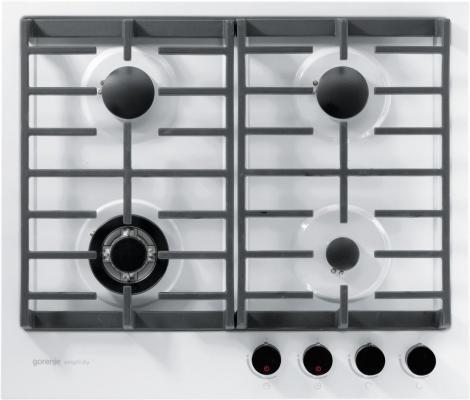 Варочная панель газовая Gorenje Simplicity GKT6SY2W белый цена и фото