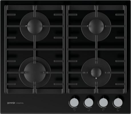 Газовая варочная поверхность Gorenje Simplicity GT641SY2B черный цена 2017
