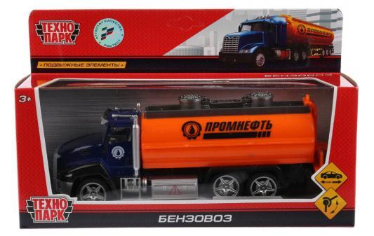 Бензовоз ТЕХНОПАРК 2213-3R3 оранжевый машинки технопарк машина технопарк камаз бензовоз
