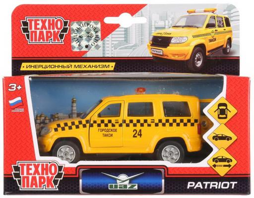 Машина металл УАЗ Patriot такси 12см, открыв. двери и багажник, инерц. в кор. Технопарк в кор.2*24шт машина технопарк металл инерц hyundai solaris 12см открыв двери и багажник в кор в кор 2 36шт