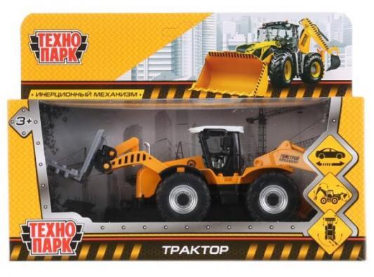 Трактор ТЕХНОПАРК Трактор цвет в ассортименте 15 см застежка молния трактор arta f разъемная 2 замка т6 цвет черный 077 100 см