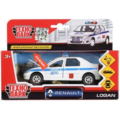 цена на Машинка ТЕХНОПАРК Renault Logan ДПС 1:43 белый SB-13-21-1