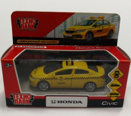 Машинка ТЕХНОПАРК Honda Civic желтый машинка технопарк грузовик 258633