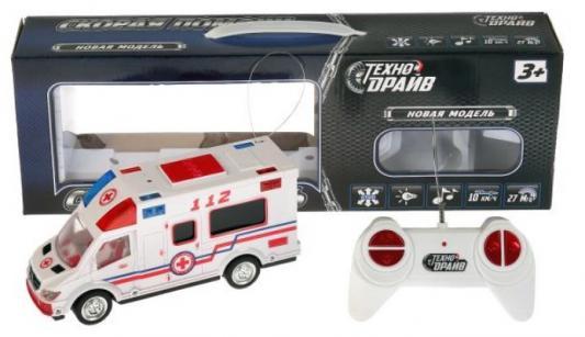 Машина скорой помощи на радиоуправлении ТЕХНОДРАЙВ «Скорая помощь» от 3 лет бело-красный