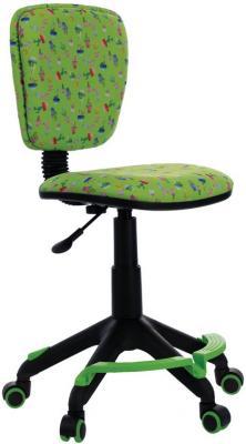 Кресло детское Бюрократ CH-204-F/CACTUS-GN зеленый рисунок кресло детское бюрократ ch w797 sd cactus gn спинка сетка салатовый сиденье зеленый кактусы cactus gn