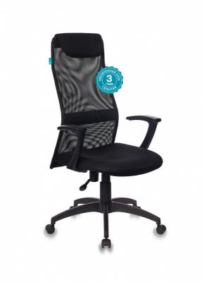 Кресло руководителя Бюрократ KB-8N/BLACK чёрный кресло руководителя бюрократ kb 8 синий
