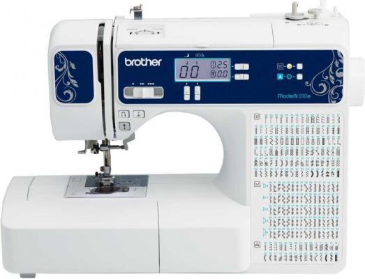 Швейная машина Brother ModerN 210e белый/синий цена 2017