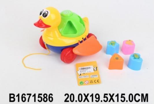 Каталка-сортер Shantou Каталка сортер утка разноцветный пластмасса
