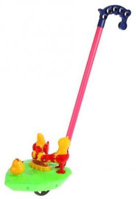 Каталка-петушки Shantou Каталка с ручкой, петушки разноцветный пластмасса