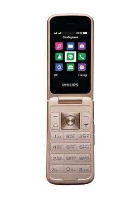 Мобильный телефон Philips E255 Xenium 32Mb черный раскладной 2Sim 2.4 240x320 0.3Mpix GSM900/1800 GSM1900 MP3 FM microSD max32Gb мобильный телефон philips xenium e570 серый