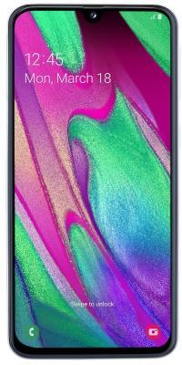 Смартфон Samsung SM-A405F Galaxy A40 64Gb 4Gb белый моноблок 3G 4G 2Sim 5.9 1080x2340 Android 9 16Mpix 802.11 a/b/g/n/ac NFC GPS GSM900/1800 GSM1900 TouchSc MP3 A-GPS microSD max512Gb смартфон nubia m2 lite 64gb 3gb черный моноблок 3g 4g 2sim 5 5 768x1280 android 6 0 13mpix 802 11abgnac bt gps gsm900 1800 touchsc mp3 microsdxc max128gb