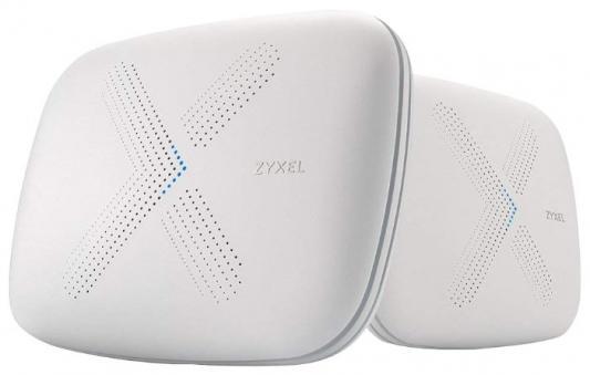 Wi-Fi роутер Zyxel Multy Plus kit 802.11abgnac 3000Mbps 2.4 ГГц 5 ГГц 3xLAN USB серый (WSQ60-EU0201F) wifi роутер zyxel armor z2