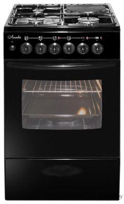 Плита Комбинированная Лысьва ЭГ 1/3г14 М2С-2у черный (стеклянная крышка) плита газовая лысьва гп 400 м2с 2у белый стеклянная крышка