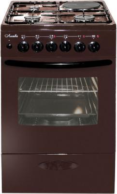 Плита Комбинированная Лысьва ЭГ 1/3г14 МС-2у коричневый (стеклянная крышка)