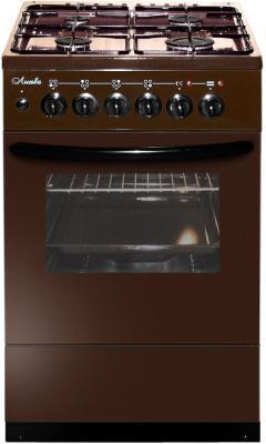 Плита Комбинированная Лысьва ЭГ 401 М2С-2у коричневый (стеклянная крышка) реш.чугун плита комбинированная лысьва эг 404 м2с 2у стеклянная крышка коричневый