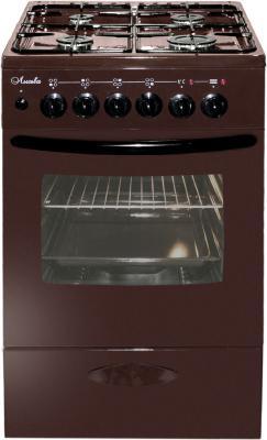 Комбинированная плита Лысьва ЭГ 401 МС-2У (стеклянная крышка) коричневый