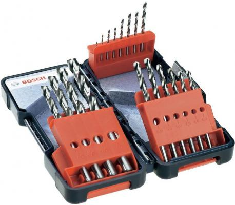 Набор сверл BOSCH 2607019578 18шт. HSS-G 1-10мм TOUGH BOX цена