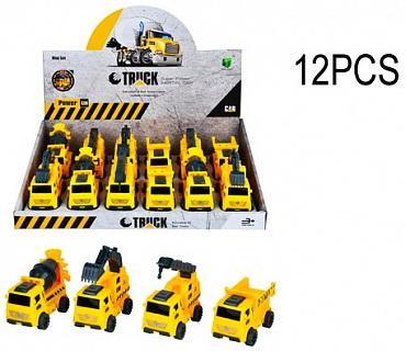 Машинка Строительная техника в дисплее 12 шт 38*27*9 pioneer toys машинка строительная техника цвет оранжевый