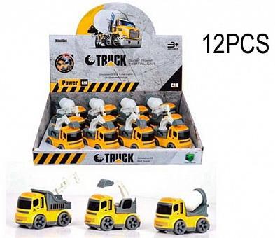 Машинка Строительная техника, в дисплее 12 шт 30*26,5*7,5 pioneer toys машинка строительная техника цвет оранжевый