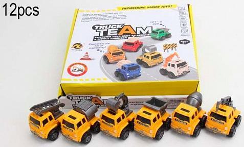 Машинка Строительная техника, в дисплее боксе 12 шт, 25,5*24*7 pioneer toys машинка строительная техника цвет оранжевый