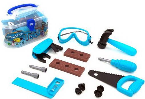 Купить Набор инструментов, предметов 13 шт., чемоданчик, ЧИЖИК, для мальчика, Игровые наборы Юный мастер