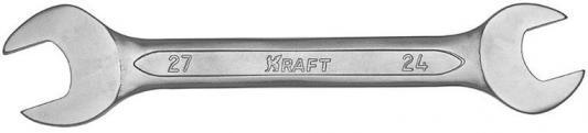 Ключ рожковый KRAFT КТ 700535 (24 / 27 мм) хром-ванадиевая сталь (Cr-V) ключ гаечный рожковый kraft кт 700526 10 13 мм