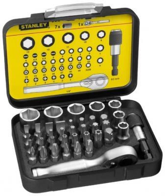 цена на Набор бит STANLEY 1-13-906 и торцевых головок expert 1/4 40шт