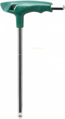 Ключ SATA 83114 шестигран. 8мм 198/131мм Т-обр.рук. сфер./кон. набор ключей sata 09124 9пр угловые удлинённ сфер кон и держат metric пласт блист