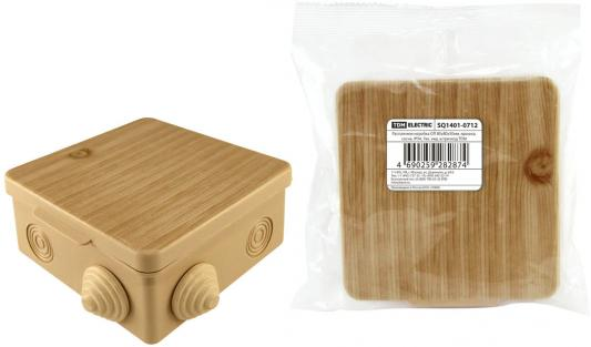 Коробка распаячная ТДМ SQ1401-0712 80х80х50мм крышка сосна IP54 7вх. цены