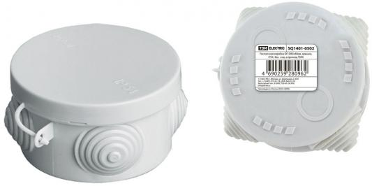Коробка распаячная ТДМ SQ1401-0502 ОП D85х40мм крышка IP54 4вх. инд.штрихкод коробка распаячная тдм sq1402 1008 120х92х45мм крышка ip20