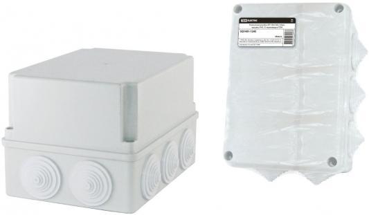 Коробка распаячная ТДМ SQ1401-1245 ОП 190х140х120мм крышка IP44 10гермовводов инд.штрихкод коробка распаячная тдм sq1402 1008 120х92х45мм крышка ip20