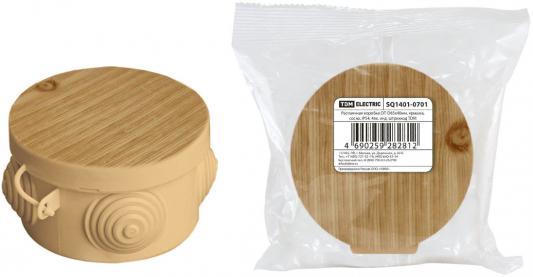 Коробка распаячная ТДМ SQ1401-0701 D65х40мм крышка сосна IP54 4вх. коробка распаячная тдм sq1402 1008 120х92х45мм крышка ip20