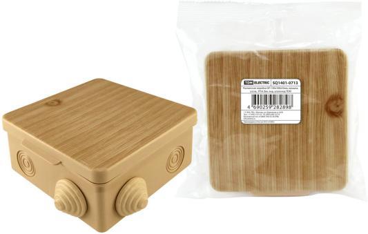 Коробка распаячная ТДМ SQ1401-0713 100х100х55мм крышка сосна IP54 8вх. коробка распаячная тдм sq1402 1008 120х92х45мм крышка ip20