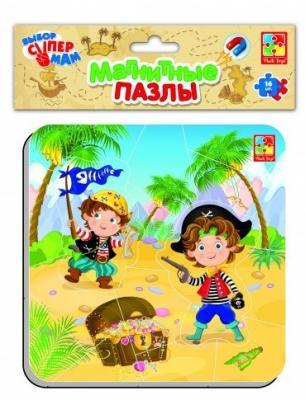 Пазл на магните Vladi toys Пираты 16 элементов цена