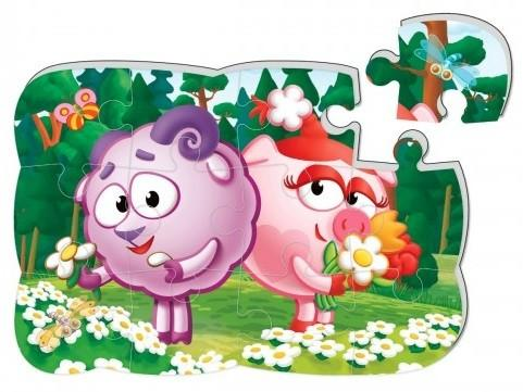 Купить Пазл на магните Vladi toys Бараш и Нюша 12 элементов, Пазлы для малышей