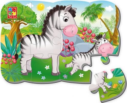Пазлы на магните Зебра vladi toys пазлы на магните ёжик смешарики vladi toys