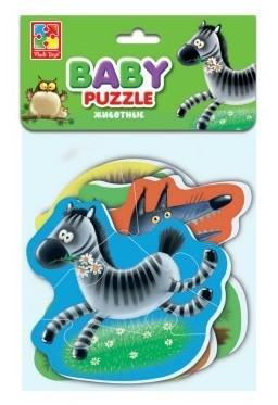 Мягкий пазл Vladi toys Животные 16 элементов мягкий пазл vladi toys животные 16 элементов