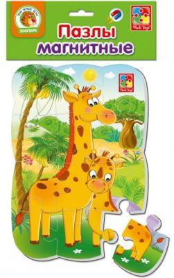 Пазл на магните Vladi toys Жирафик 12 элементов VT3205-62 цена