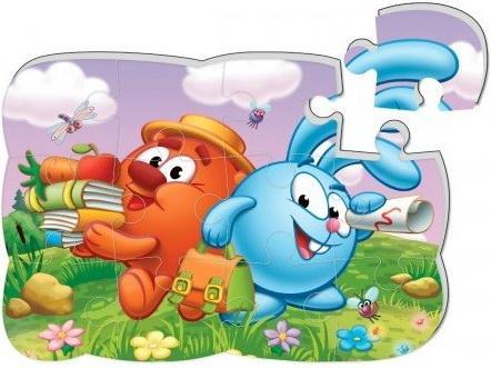 Купить Пазлы на магните Смешарики Копатыч и Крош, Vladi toys, Пазлы для малышей