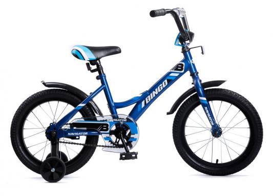 """Велосипед Navigator BINGO 16"""" синий велосипед навигатор супермен цвет красный синий navigator"""