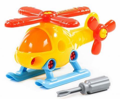 Машинка конструктор ПОЛЕСЬЕ Вертолёт 16 элементов конструктор полесье юный путешественник вертолёт 11 дет 55361