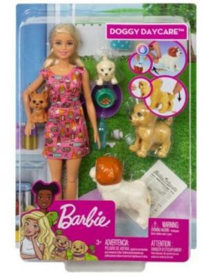Кукла Barbie (Mattel) Кукла Barbie и щенки колени куклы сгибаются