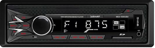Автомагнитола Swat MEX-1045UBA 1DIN 4x50Вт автомагнитола swat mex 1224ubw 1din 4x45вт