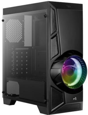 Корпус Aerocool Aero Engine RGB-G-BK-v2 черный без БП ATX 3x120mm 2xUSB2.0 1xUSB3.0 audio bott PSU корпус nzxt s340 черный красный w o psu atx 3x120mm 3x140mm 2xusb3 0 audio bott psu