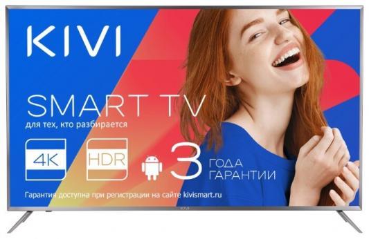 Телевизор Kivi 55UR50GR черный телевизор 55 kivi 55ur50gr 4k uhd 3840x2160 smart tv серый