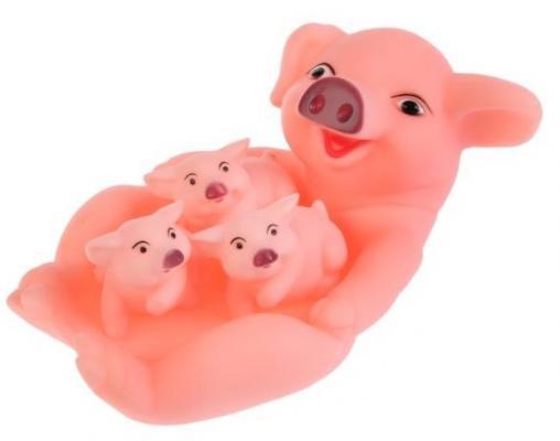Игрушка для купания для ванны ИГРАЕМ ВМЕСТЕ Свинка и 3 поросенка игрушка для купания для ванны жирафики лошадка и свинка