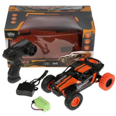 Машинка на радиоуправлении YAKO TOYS TOYS Джип пластмасса, металл от 6 лет чёрно-оранжевый кукла yako m6579 6